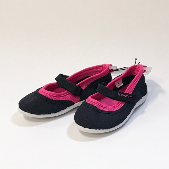 5-6 NWT Pink or Blue S Speedo Kids Toddler Girls Mary Jane Water Shoes
